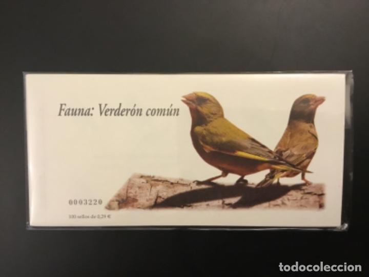 2006-ESPAÑA TALONARIO EDIFIL 4215C VERDERÓN CARNET COMPLETO DE 100 SELLOS FAUNA Y FLORA VC: 650 € (Sellos - España - Juan Carlos I - Desde 2.000 - Nuevos)