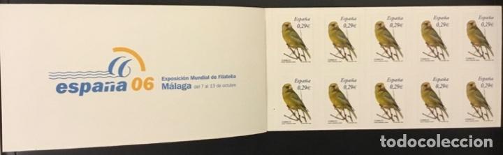Sellos: 2006-ESPAÑA TALONARIO EDIFIL 4215C VERDERÓN CARNET COMPLETO DE 100 SELLOS FAUNA Y FLORA VC: 650 € - Foto 3 - 182300232