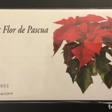 Sellos: 2006-ESPAÑA TALONARIO EDIFIL 4216 C FLOR DE PASCUA CARNET COMPLETO DE 100 SELLOS FAUNA Y FLORA. Lote 182302221