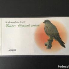 Sellos: 2008-ESPAÑA TALONARIO EDIFIL 4377C CERNÍCALO COMÚN CARNET COMPLETO DE 100 SELLOS FAUNA Y FLORA. Lote 182386046