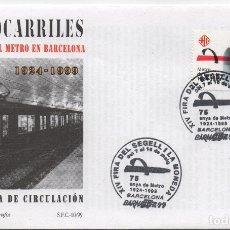 Sellos: SOBRE ILUSTRADO PRIMER DÍA. 75 AÑOS DEL METRO DE BARCELONA. Lote 182913031