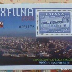 Sellos: SELLOS ESPAÑA 2001 - FOTO 809- BL. EXFILNA. Lote 182958660