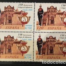 Sellos: SELLOS ESPAÑA EDIFIL 3778 AÑO 2001 EN BLOQUE DE 4 MNH** ANIVERSARIO COLEGIO INFANTERIA DE TOLEDO. Lote 182970132