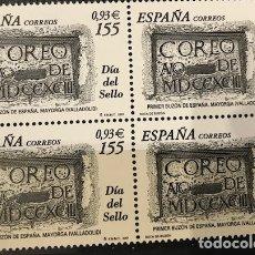 Sellos: SELLOS ESPAÑA EDIFIL 3780 AÑO 2001 EN BLOQUE DE 4 MNH** DIA DEL SELLO. Lote 182970460