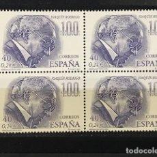 Sellos: SELLOS ESPAÑA EDIFIL 3783 AÑO 2001 EN BLOQUE DE 4 MNH** PERSONAJES POPULARES. Lote 182971081