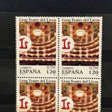 Sellos: SELLOS ESPAÑA EDIFIL 3791 AÑO 2001 EN BLOQUE DE 4 MNH** GRAN TEATRO DEL LICEO. Lote 182971306