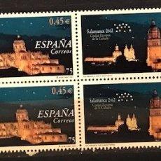 Sellos: SELLOS ESPAÑA EDIFIL 3813 AÑO 2001 EN BLOQUE DE 4 MNH** SALAMANCA 2002. Lote 182971503