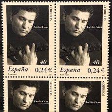 Sellos: SELLOS ESPAÑA EDIFIL 3841 AÑO 2001 EN BLOQUE DE 4 MNH** CARLOS CANO. Lote 182972466