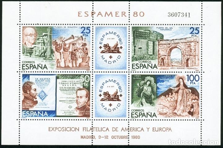 HOJITA ESPAMER '80 NUEVA (Sellos - España - Juan Carlos I - Desde 1.975 a 1.985 - Nuevos)