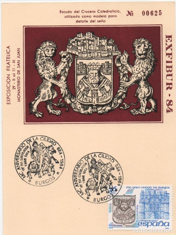 TARJETA ILUSTRADA. MC AÑOS DE LA CIUDAD DE BURGOS (Sellos - España - Juan Carlos I - Desde 1.975 a 1.985 - Cartas)