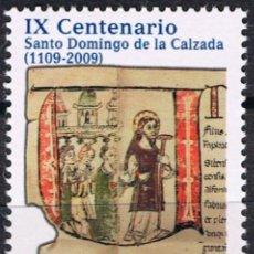 Sellos: ESPAÑA 2009 EDIFIL 4488 SELLO ** EFEMÉRIDES IX CENTENARIOS STO DOMINGO 0,62 SPAIN STAMPS TIMBRE . Lote 183206547