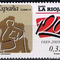 Sellos: ESPAÑA 2009 EDIFIL 4461 SELLO ** CENTENARIOS PERIODICOS DIARIO LA RIOJA 0,32€ SPAIN STAMPS TIMBRE . Lote 183208162