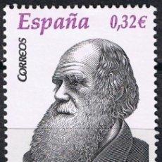 Sellos: ESPAÑA 2009 EDIFIL 4499 SELLO ** PERSONAJES CHARLES DARWIN (1809-1882) NATURISTA INGLES 0,32€ SPAIN . Lote 183208455