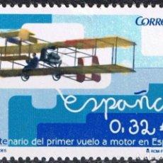 Sellos: ESPAÑA 2009 EDIFIL 4503 SELLO ** EFEMERIDES AVION CENTENARIO 1º VUELO A MOTOR EN ESPAÑA 0,32€ SPAIN . Lote 183208815