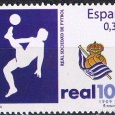 Sellos: ESPAÑA 2009 EDIFIL 4504 SELLO ** DEPORTES CENTENARIO REAL SOCIEDAD DE FUTBOL SAN SEBASTIAN SPAIN. Lote 183208862