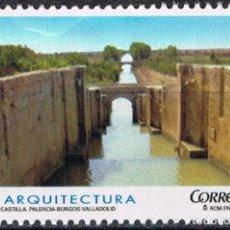 Sellos: ESPAÑA 2009 EDIFIL 4506 SELLO ** ARQUITECTURA CANAL DE CASTILLA PALENCIA BURGOS VALLADOLID SPAIN. Lote 183209056