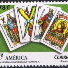 Sellos: ESPAÑA 2009 EDIFIL 4513 SELLO ** UPAEP LA BARAJA ESPAÑOLA NAIPES HERACLIO FOURNIER 0,78€ SPAIN STAMP. Lote 183209448