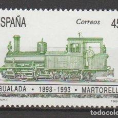 Sellos: 1993.- . I CENTENARIO DEL FERROCARRIL IGUALADA-MARTORELL.. Lote 183280202