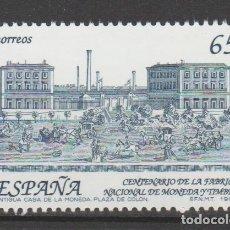 Sellos: 1993.- . CENTENARIO DE LA CREACIÓN DE LA FÁBRICA NACIONAL DE MONEDA Y TIMBRE.. Lote 183280407