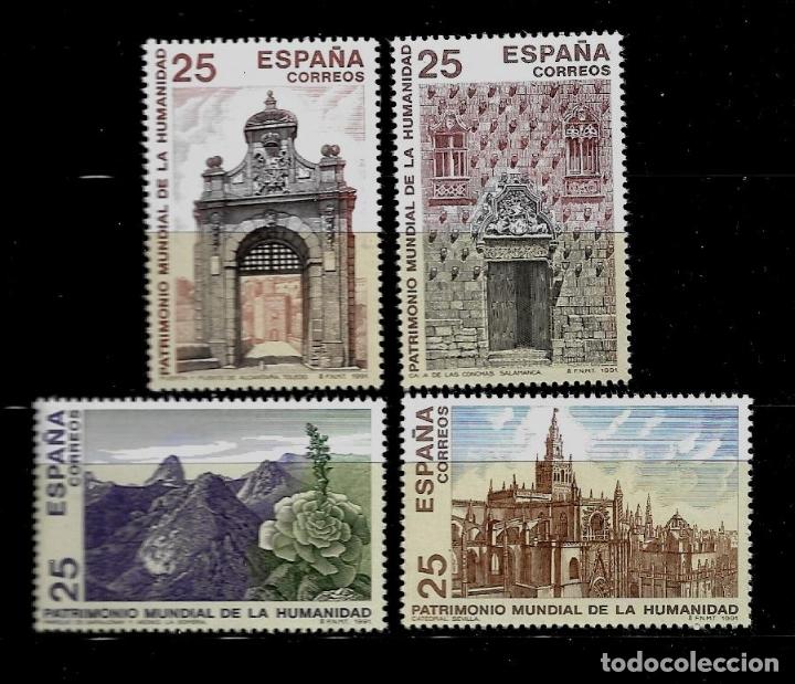 JUAN CARLOS I - EDIFIL 3146-49 - 1991 - BIENES CULTURALES Y NATURALES PATRIMONIO MUNDIAL (Sellos - España - Juan Carlos I - Desde 1.986 a 1.999 - Nuevos)