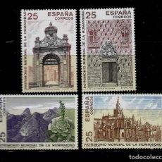 Sellos: JUAN CARLOS I - EDIFIL 3146-49 - 1991 - BIENES CULTURALES Y NATURALES PATRIMONIO MUNDIAL. Lote 183308988