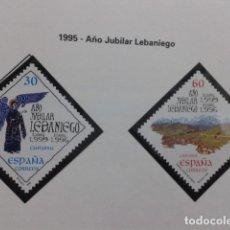 Sellos: ESPAÑA 1995. AÑO JUBILAR LEBANIEGO. EDIFIL 3354, 3355. NUEVO. Lote 183319036