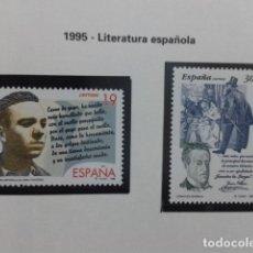 Sellos: ESPAÑA 1995. LITERATURA ESPAÑOLA - EDIFIL Nº 3356-3357. NUEVO. Lote 183322341
