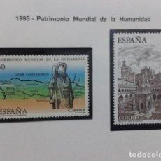 Sellos: ESPAÑA 1995. EDIFIL Nº 3390, 3391 PATRIMONIO DE LA HUMANIDAD. NUEVO. Lote 183330296