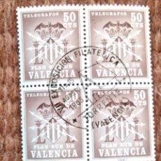 Sellos: PLAN SUR DE VALENCIA - SELLO DE 50 CENTIMOS - CUÑO EXPOSICION FILATELICA TORRENTE 1963. Lote 183360111