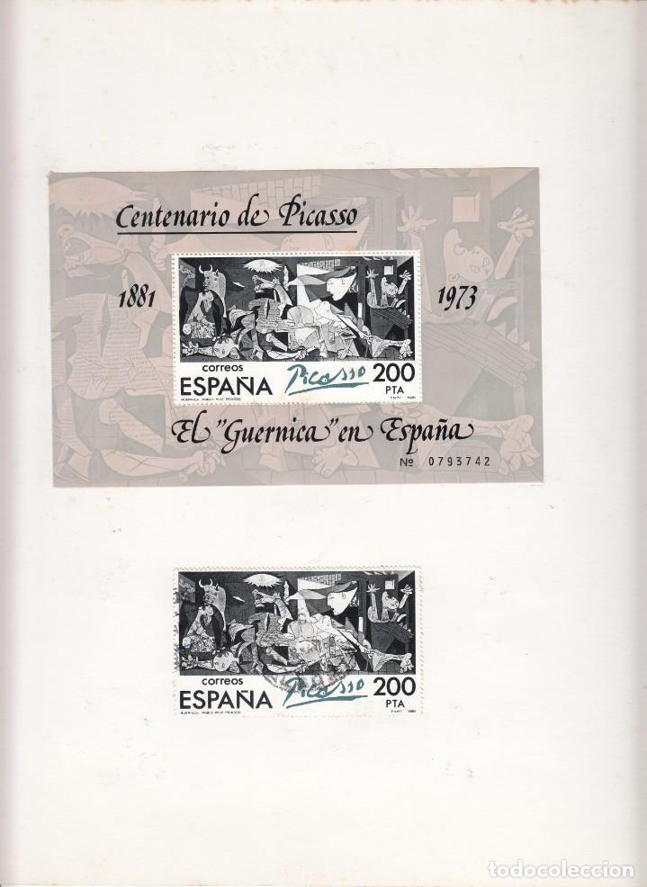 Sellos: HOJA:BARNAFIL-78 / PICASSO 1881-1972 - MATASELLO I CENTENARIO PICASSO - Foto 2 - 183386317