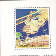 Sellos: DOCUMENTO FILATELICO: 1981 BARCELONA. LOS ORIGENES DEL CORREO AEREO EN ESPAÑA. Lote 183423568