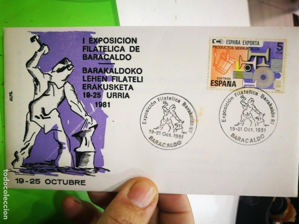 I EXPOSICIÓN FILATELICA DE BARACALDO 1981 (Sellos - España - Juan Carlos I - Desde 1.975 a 1.985 - Cartas)