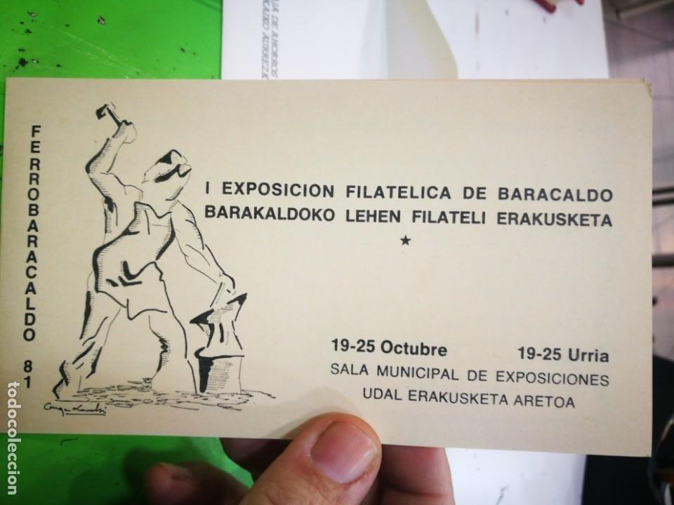 Sellos: I EXPOSICIÓN FILATELICA DE BARACALDO 1981 - Foto 3 - 183480158