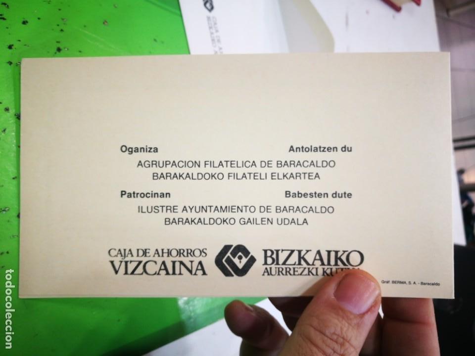 Sellos: I EXPOSICIÓN FILATELICA DE BARACALDO 1981 - Foto 6 - 183480158