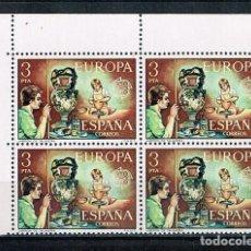Sellos: ESPAÑA 1976 - EDIFIL 2316** - EUROPA CEPT - BLOQUE DE 4 - NUEVO - SERIE NO COMPLETA. Lote 183741306