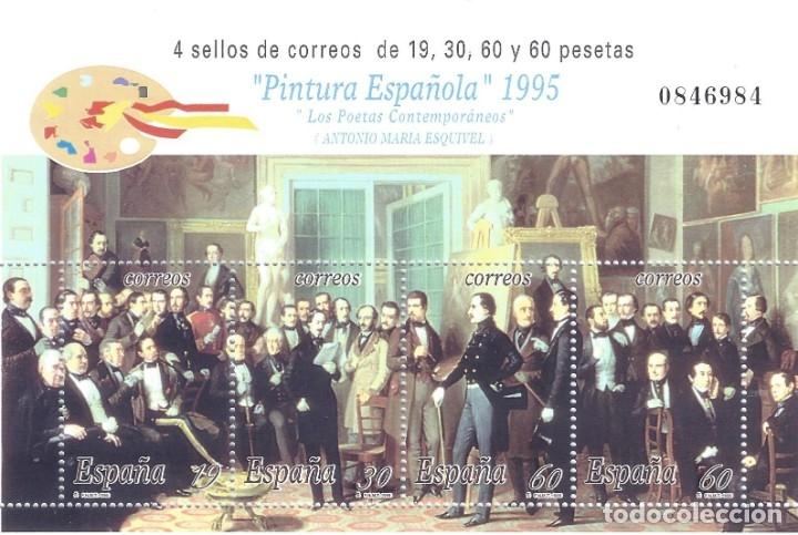 EDIFIL 3401 PINTURA ESPAÑOLA. ANTONIO MARÍA ESQUIVEL 1995. MLH. (Sellos - España - Juan Carlos I - Desde 1.986 a 1.999 - Nuevos)