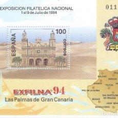 Sellos: EDIFIL 3313 EXPOSICIÓN FILATÉLICA NACIONAL EXFILNA'94. MNH **. Lote 183864917