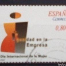 Sellos: ESPAÑA VALORES CÍVICOS IGUALDAD LABORAL SELLO USADO DE 0.80 €. Lote 184000222