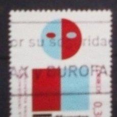Sellos: ESPAÑA VALORES CÍVICOS STOP AL RACISMO SELLO USADO DE 0,30 €. Lote 184000407