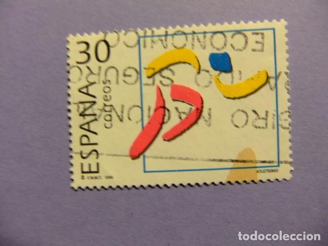 ESPAÑA 1996 ATLETISMO EDIFIL 3418 FU YVERT 3002 FU (Sellos - España - Juan Carlos I - Desde 1.986 a 1.999 - Usados)