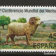 Sellos: R35/ ESPAÑA 1986, EDIFIL 2839 MNH**, II CONFERENCIA MUNDIAL DEL MERINO. Lote 184597016