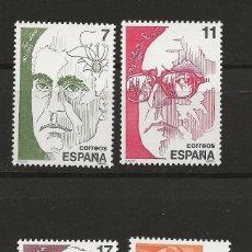 Sellos: R35/ ESPAÑA 1986, EDIFIL 2853/56 MNH**, PERSONAJES. Lote 184599047