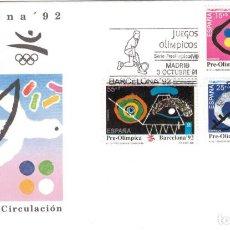 Sellos: ESPAÑA 1991 - SOBRES PRIMER DIA - EDILFIL 3134/36. Lote 184628156