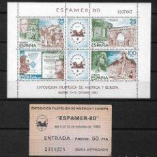 Sellos: ESPAÑA 1980 EDIFIL 2583 HOJA BLOQUE ** - 187. Lote 184777103
