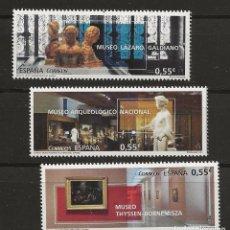 Sellos: R13/ ESPAÑA 2015, EDIFIL 4953/55 MNH**, MUSEOS. Lote 184783626