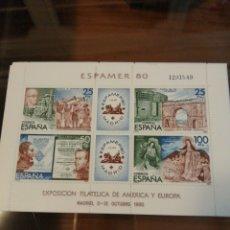 Sellos: ESPAÑA EDIFIL 2583 HOJITA BLOQUE 10 UNIDADES. Lote 184893797