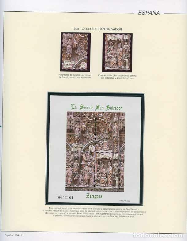 Sellos: España 1998 - AÑO COMPLETO - MNH - Montado en hojas FILABO - Foto 11 - 185684967