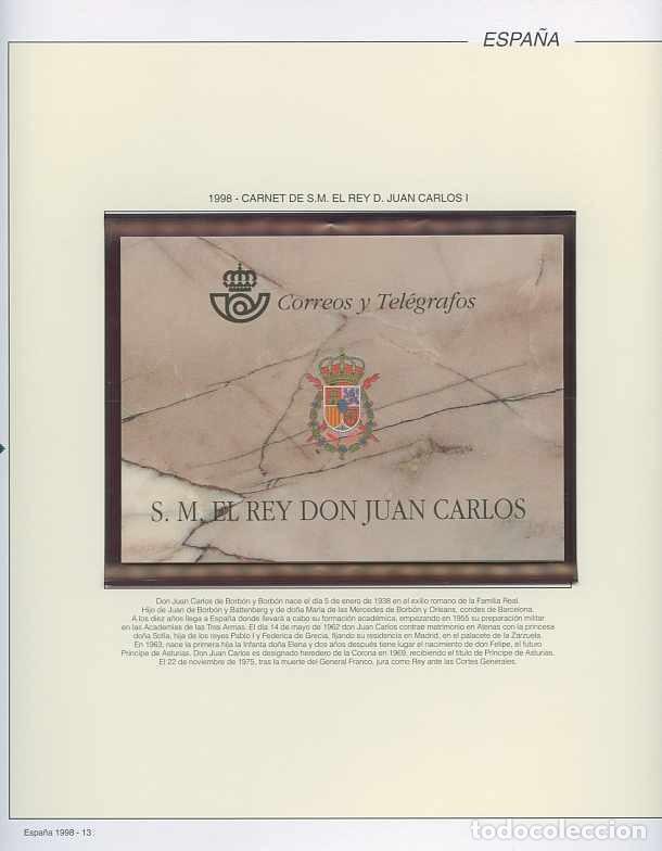 ESPAÑA 1998 - AÑO COMPLETO - MNH - MONTADO EN HOJAS FILABO (Sellos - España - Juan Carlos I - Desde 1.986 a 1.999 - Nuevos)