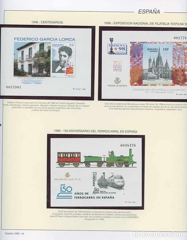 Sellos: España 1998 - AÑO COMPLETO - MNH - Montado en hojas FILABO - Foto 15 - 185684967