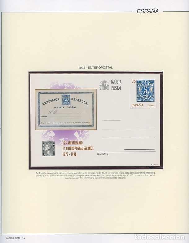 Sellos: España 1998 - AÑO COMPLETO - MNH - Montado en hojas FILABO - Foto 16 - 185684967